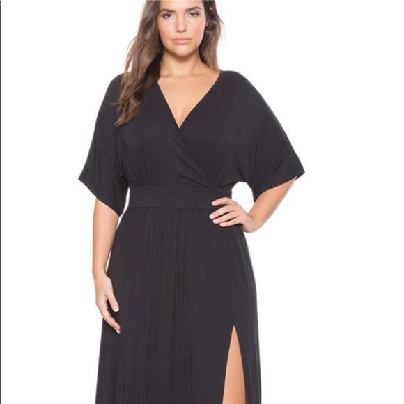 da8985f0a3 Eloquii Dresses   Skirts - Eloquii Kimono Maxi Dress Black Size 22 24